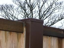 Garden Patio Fence Posts Slotted Concrete Fence Post Extender Sleeve Extension Steel Brown Mtmstudioclub Com