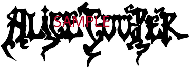 Amazon Com White Alice Cooper Band Decal Logo Window New Sticker Automotive