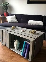 diy wine fruit wood crate coffee table