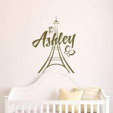 Personalized Paris Wall Decals Vinyl Stickers By Fabwalldecals Etsy