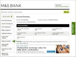 balance transfer to an m s credit card
