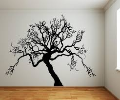 Scary Spooky Tree Bare Branches Wall From Stickerbrand