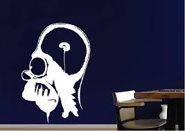 The Simpsons Homer Small Brain B W People Wall Stickers Adhesive Independence
