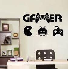 Boys Room Wall Decal Gamer Wall Decal Controller Video Game Wall Decals Kids Bedroom Vinyl Wall Art Decals Gaming Poster Y132 Wall Stickers Aliexpress