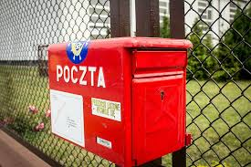 Red Mail Box Fence Email Mailbox Polish Post Office Letter Communication Barrier Boundary Pxfuel