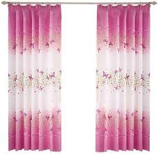 Amazon Com Pannow Butterfly Flowers Printed Semi Blackout Curtains With Hooks Girls Room Curtain Panels For Bedroom Living Room Kids Room Or Nursery Window Drapes 39 X 78 2 Panels Kitchen Dining