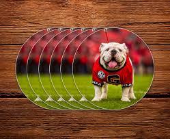 Uga Georgia Bulldogs Sticker 6 Pack Uga X Mascot 2 75 Circle Vinyl Wright Photo