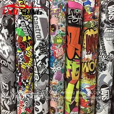New Type Graffiti Sticker Car Bomb Wrap Sheet Decal Vinyl Diy Styling Car Bomb Vinyl Sticker For Phone Cover Protection Wrap Car Stickers Aliexpress