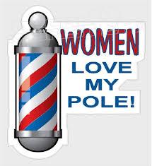 Hair Stylist Women Love Barber Pole Decal Sticker Decal Max