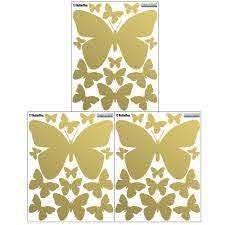 Butterfly Wall Decals Gold Girls Room Decor Peel Stick Wall Art S