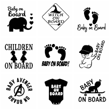 10 Styles Lovely Baby On Board Car Stickers And Decals Vinyl Stickers For Cars Window Body Door Car Styling Decor Accessories Buy At The Price Of 1 99 In Aliexpress Com Imall Com