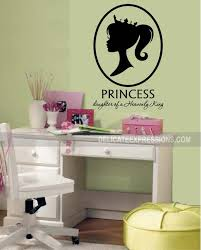 Princess Room Wall Decal Princess Silhouette Daughter Of A Etsy