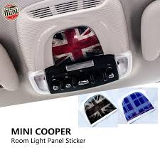 Mini Cooper Car Reading Lamp Panel Cover Sticker 3d Interior Roof Sticker Trim Decal Car Styling Sticker For Bmw Mini F55 F56 Car Styling Stickers Roof Stickersticker For Bmw Aliexpress