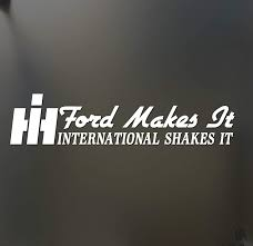 Amazon Com Shopforallyou Stickers Decals Ford Makes It International Shakes It Sticker Huge Super Duty Psd Diesel Decal Clothing