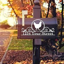 Amazon Com Celycasy Chicken Mailbox Decal Farmhouse Mailbox Custom Mailbox Decal Chicken Address Decal Mailbox Numbers Mailbox Decal Baby