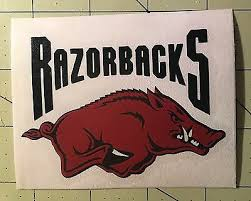 University Of Arkansas Razorback Decal For Your Yeti Rambler Tumbler Ebay