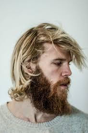Bearded Viking Blonde Twarz Ludzie Moda Meska