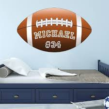 Football Wall Decal Custom Name Personalize Sports Teams School Sticker Bl1 Wall Decal