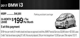 lease offers for 2017 i3