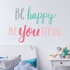 Be Bright Be Happy Wall Decal Paper Riot