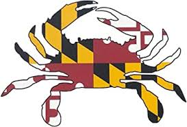Amazon Com Maryland Crab State Flag Decal Auto Vinyl Decal Sticker 4x6 All Weather Vinyl Decal Sticker 1 Decal Sticker Furniture Decor