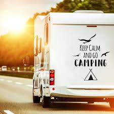 Car Decal Rear Window Sticker Caravan Sticker Themed Quote Keep Calm And Go Camping Bumper Stickers M2374 Wall Decals Bumper Sticker Murals Bags Cups Backpacks And Many More At Www Deinewandkunst Com