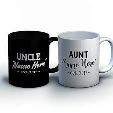 personalized aunt and uncle coffee mugs