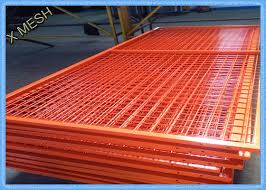 Orange Wire Mesh Fence Panels Framed Welded Wire Fabric Corrosion Resistant