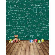 موسم التخرج مدرسة الرياضيات الأخضر جدار الخلفيات المطبوعة خلفية