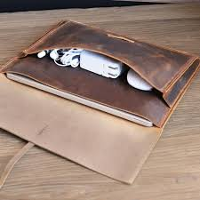handmade leather macbook sleeve case