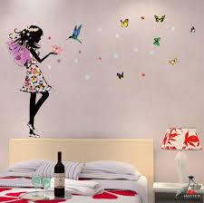 Butterfly Beautiful Arts Wall Stickers Vinyl Home Decor For Living Room Bed Room For Sale Online