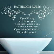 Bathroom Wall Decal Quotes Bathroom Rules Floral Pattern Skirt White Toilet Seat Flower Design Vinyl Sticker Waterproof Diy Wall Sticker Quote Wall Sticker Quotes From Onlinegame 11 04 Dhgate Com