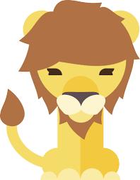 Cute Lion With Mane Cartoon Vinyl Decal Sticker Shinobi Stickers