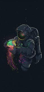 jellyfish and astronaut