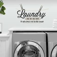 Roommates Laundry Quote Repositionable Peel And Stick Wall Decals Walmart Com Walmart Com