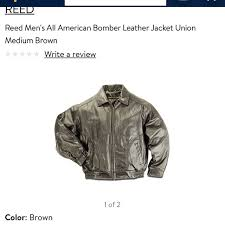high end reed leather jacket