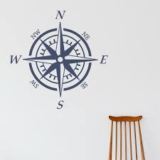 Compass Wall Decal Nautical Compass Sticker Decor