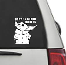 Excited To Share The Latest Addition To My Etsy Shop Baby Yoda Decal Mandalorian Decal Baby Yoda Sticker Bab In 2020 Yoda Decals Yoda Sticker Star Wars Symbols