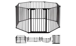8 Panels Metal Gate Baby Pet Fence Safe Playpen Barrier Groupon