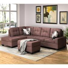 brown 3 piece sectional sofa
