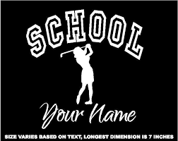 Personalized Ladies Golf Decal Window Sticker For Car Wall Window G6 Window Stickers Sports Decals Ladies Golf