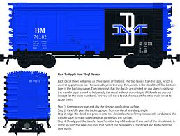 Boston Maine Decals For The Pullman Ps 1 Boxcar Brick Model Railroader