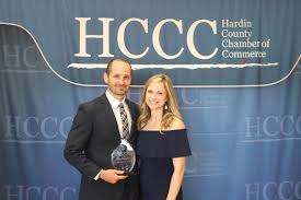 Aaron Hawkins Recognized as Emerging Leader   Hardin County Chamber of  Commerce