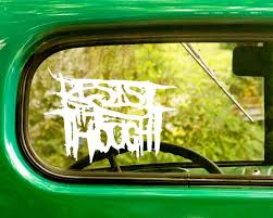 2 Resist The Thought Band Decal Stickers The Sticker And Decal Mafia