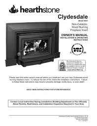 clydesdale 8491 manual hearthstone stoves