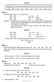 Giải toán lớp 3 Đọc, viết, so sánh các số có ba chữ số
