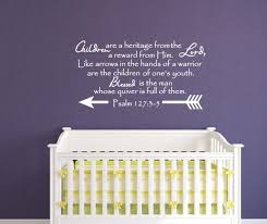 Children Are A Heritage From The Lord Scripture Wall Decal Psalm 127 Cuttin Up Custom Die Cuts