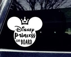 Princess Car Decal Etsy