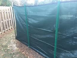 Amazon Com 6 X 50 Privacy Fence Screen Dark Green W Brass Grommets Actual Size 5 8 X50 Garden Outdoor
