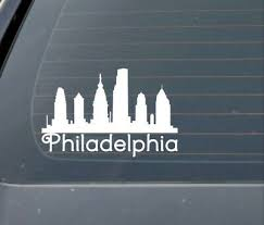 Philadelphia Philly Skyline Car Window Decal Ebay